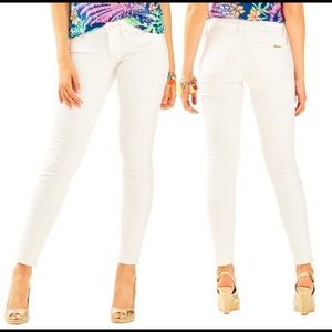 Lilly Pulitzer south Ocean Skinny white jeans 4